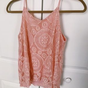 Tops - Salmon colored Tank Blouse